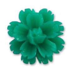 14mm Teal Green Lucite Flower Resin Flatback Cabochons
